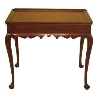 Henkel Harris Queen Anne Williamsburg Style Tea Table For Sale