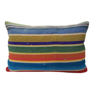 Turkish Colorful Kilim Pillow For Sale