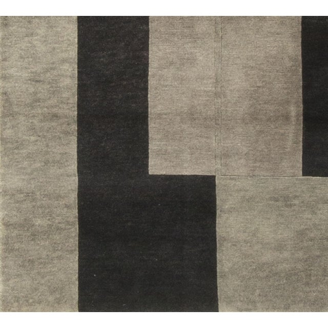 """Modern Hand-Knotted Wool Rug - 8'3"""" x 11'2"""" - Image 4 of 4"""