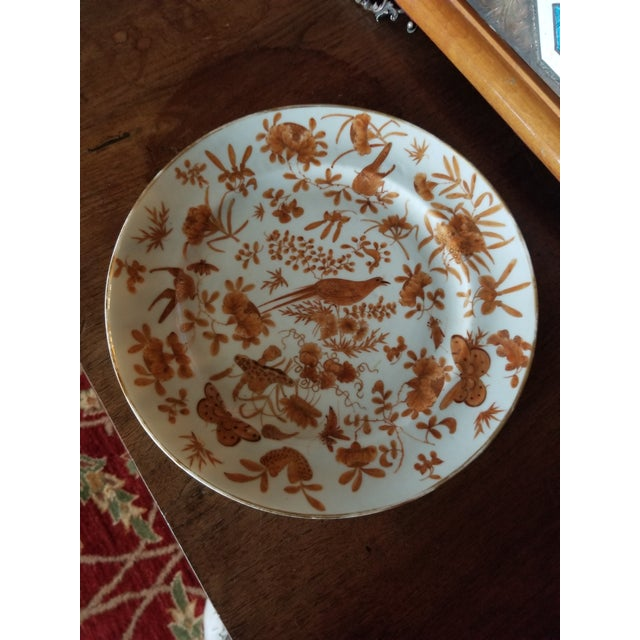 Orange Sacred Bird and Butterfly Chinese Porcelain For Sale - Image 8 of 8