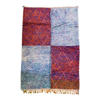 1980s Moroccan Berber Rug-6′10″ × 9′11″ For Sale
