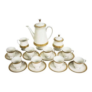 Late 20th Century Vintage Johann Seltmann Demitasse Coffee Set- 21 Pieces For Sale