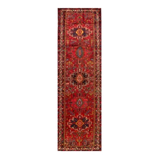 "Apadana - Vintage Persian Heriz Rug, 4' x 13'3"" For Sale"