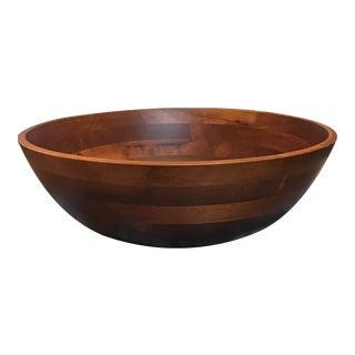 Scandinavian Wooden Footed Bowl