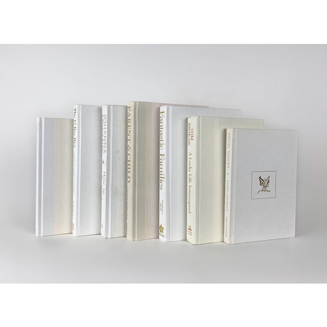 White Decorative Books Set Of 7 Chairish