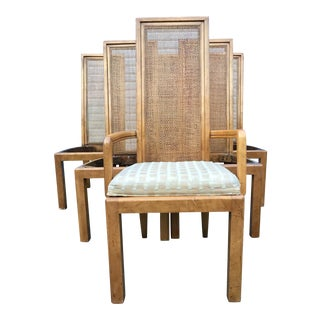 American of Martinsville Rattan High Back Chairs - Set of 6