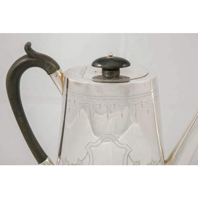Silver Plate Coffee Pot For Sale - Image 4 of 9