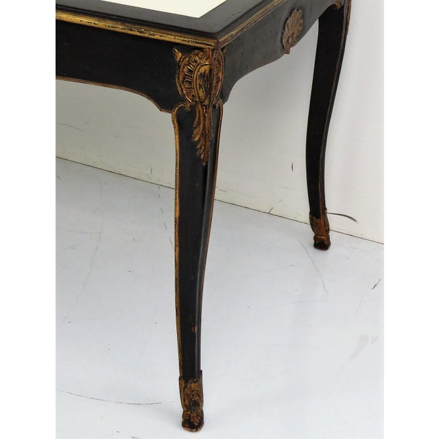 Maison Jansen Regency Style Ebonized & Gilt Leathertop Desk - Image 5 of 6