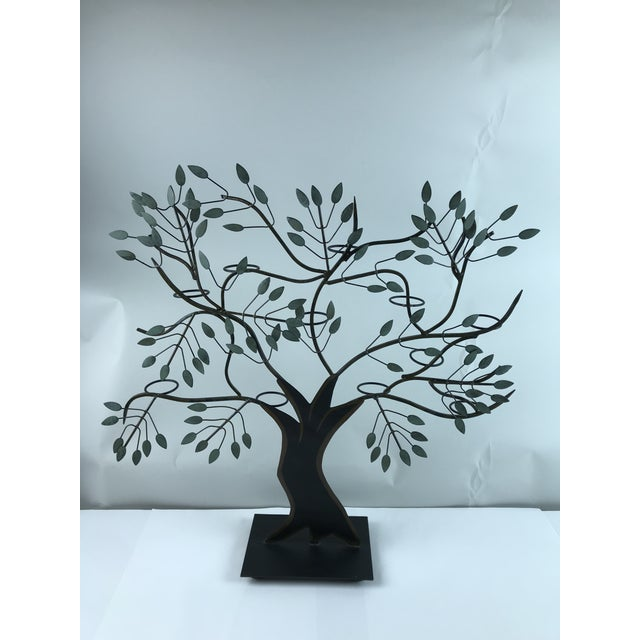 Modern Tole Painted Tree of Life Votive Candle Holder For Sale - Image 13 of 13