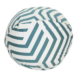 Contemporary Custom Frette Spherical Throw Pillow in Juxtapose Textile