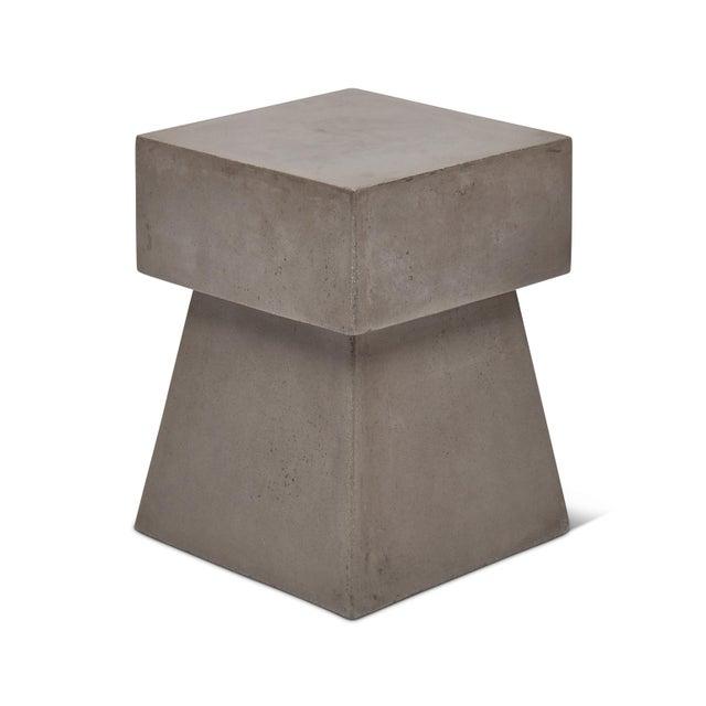 Mid-Century Modern Cindy Stool, Dark Grey For Sale - Image 3 of 8