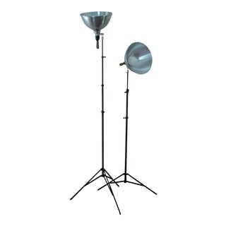 Vintage PhotographyTripod Lamps - A Pair For Sale