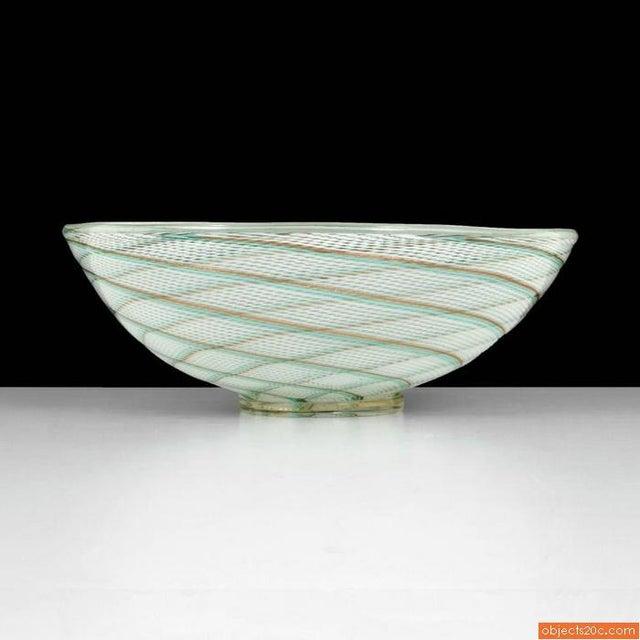 Monumental bowl by Dino Martens for Aureliano Toso, Murano, Italy.
