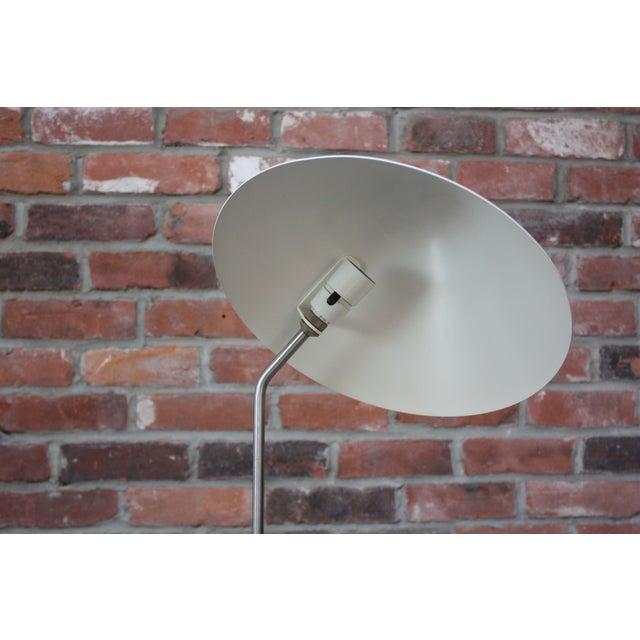 White Jørgen Gammelgaard Floor Lamp in Aluminum and Chrome For Sale - Image 8 of 13