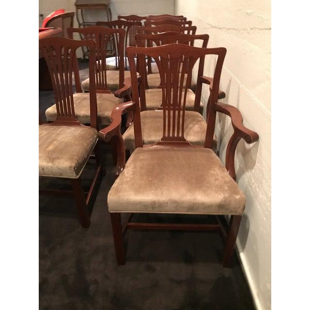 Arthur Brett Mahogany Sunbury Park Dining Chairs - Set of 10 - Image 10 of 10
