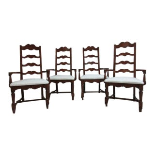 Pennsylvania House Cherry Ladderback Dining Chairs - Set of 4 For Sale