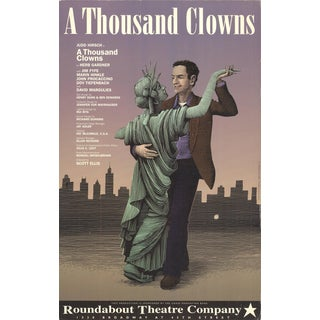 "SCOTT MCKOWEN A Thousand Clowns 22"" x 14"" Offset Lithograph Advertising For Sale"