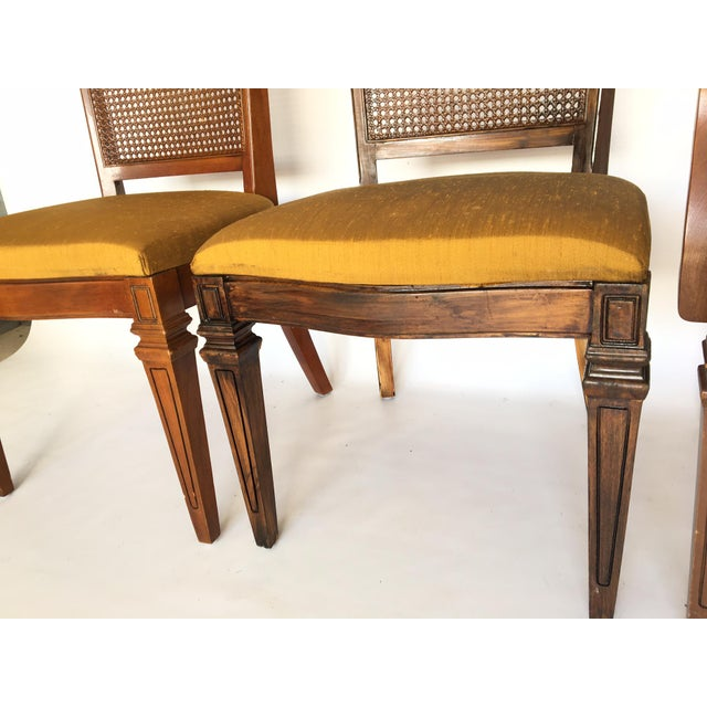 Art Nouveau Century Furniture Hibriten Cane Back Dining Chairs - Set of 6 For Sale - Image 3 of 8