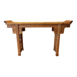 19th Century Chinese Fruitwood Console Table For Sale