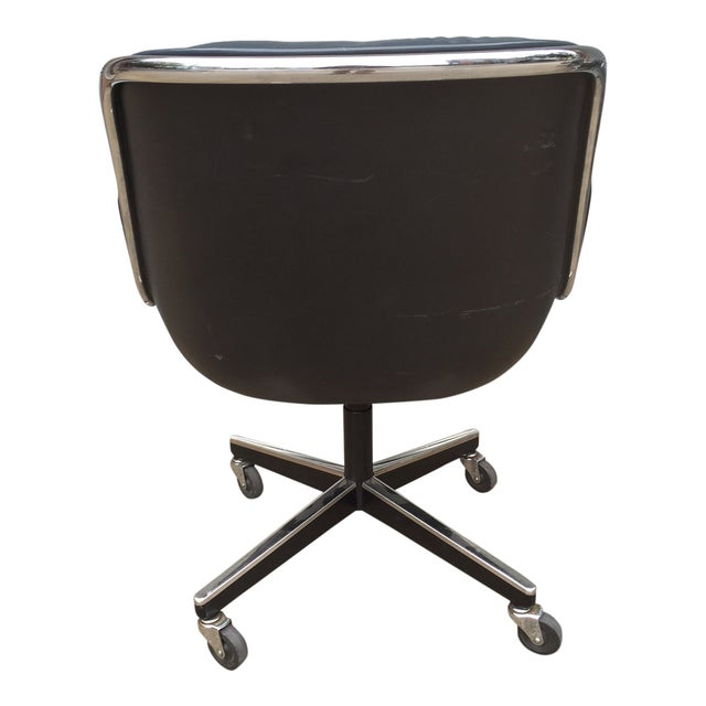 Charles Pollock for Knoll Blue Office Chair - Image 5 of 7