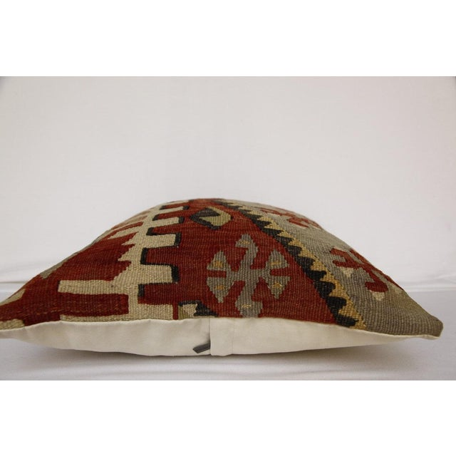 1970s 1970s Handmade Kilim Pillow Cover For Sale - Image 5 of 8