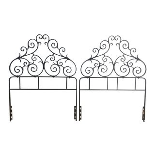 Vintage Metal Twin Headboards - A Pair