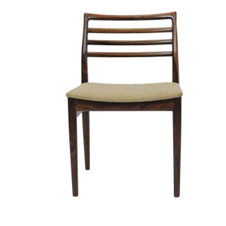 Mid Century Modern Soro Mobelfabrik for Erling Torvits Refinished Rosewood Dining Chair For Sale