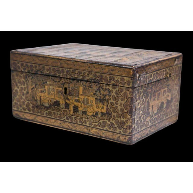 19th Century Chinoiserie Antique Humidor Jewelry Box For Sale - Image 11 of 12