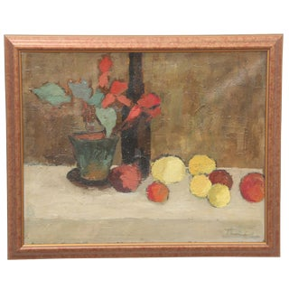 'Still Life' Fauvist Oil on Canvas by Tomaszeviski Leonard For Sale