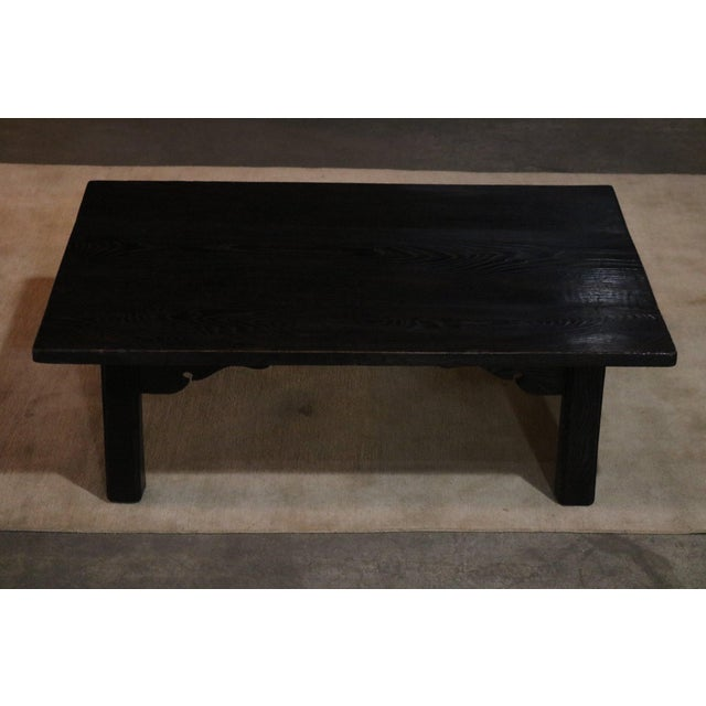 Japanese Sugi Wood Coffee Table For Sale In Los Angeles - Image 6 of 6