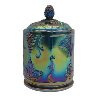 Indiana Carnival Glass Canister For Sale