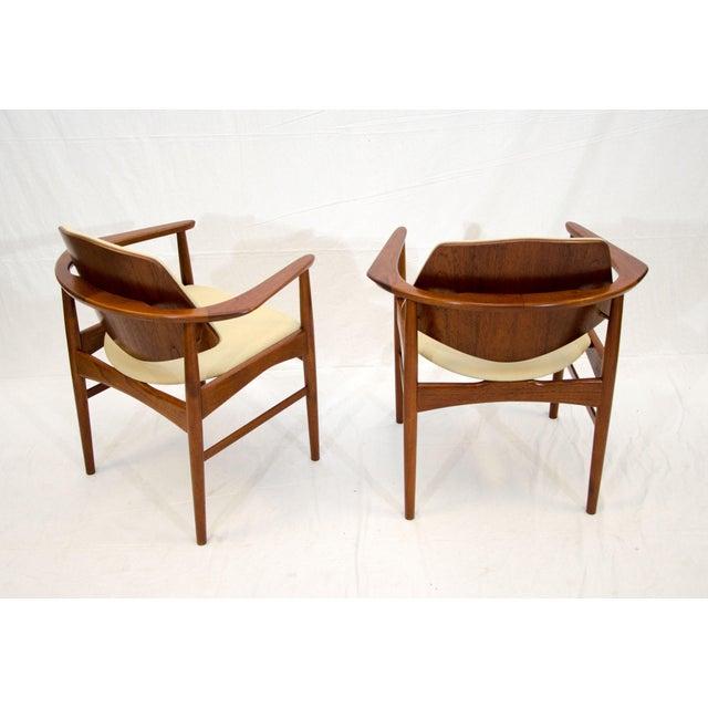 Arne Hovmand-Olsen Set of Six Danish Teak Dining Chairs, Arne Hovmand Olsen For Sale - Image 4 of 13