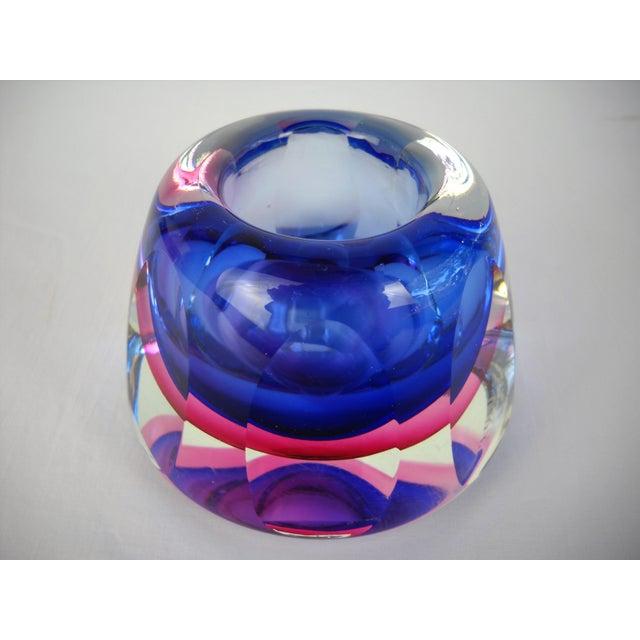 Flavio Poli Flavio Poli Faceted Murano Glass Vase For Sale - Image 4 of 10