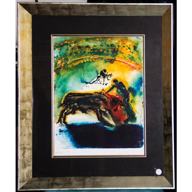 Black Salvador Dalí Hand-Signed Lithograph For Sale - Image 8 of 8