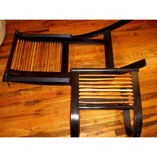 Rattan David Colwell Trannon C1 Reclining Lounge Chair and Ottoman Rattan For Sale - Image 7 of 10