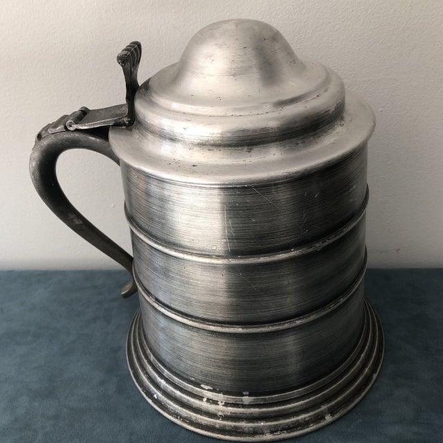 Metal Vintage Italian Pewter Beer Mug Ice Bucket For Sale - Image 7 of 7