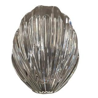 Robert Rigot for Baccarat Shell Crystal Vase