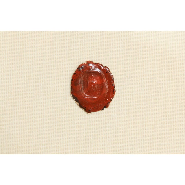 Late 19th Century Antique English Red Wax Seal Intaglios Art, a Pair For Sale - Image 5 of 10