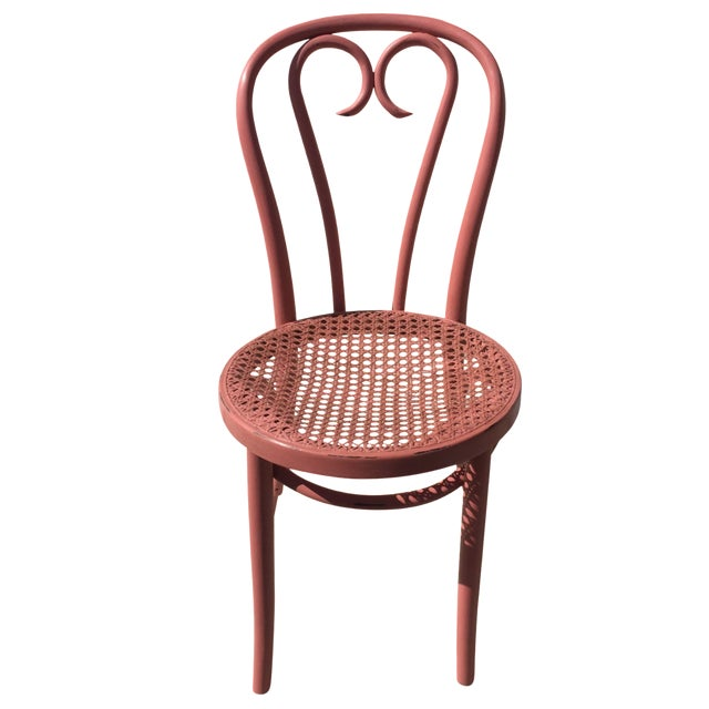 Pink Thonet-Style Cafe Chair - Image 1 of 7