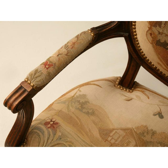 Louis XVI Aubusson Upholstered Settee - Image 7 of 11