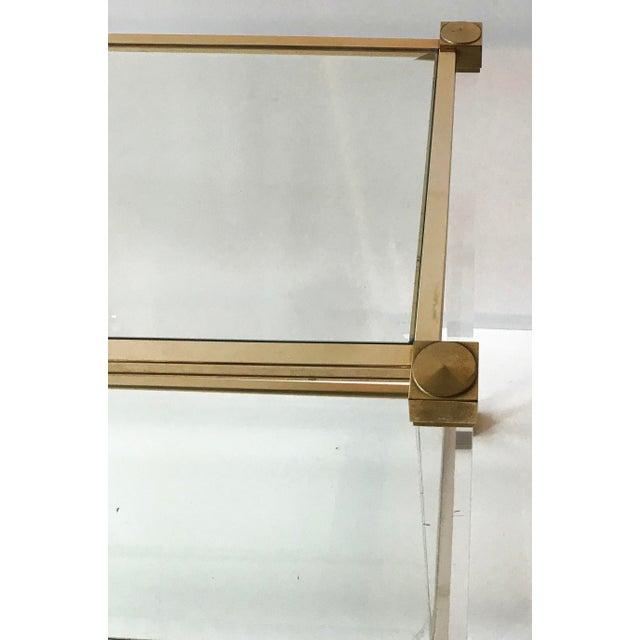 Mid-Century Modern Vintage 2 tier Pierre Vandel Console Table. For Sale - Image 3 of 6