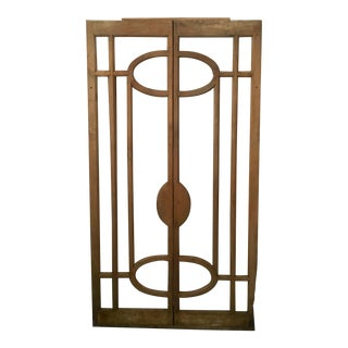 Antique 1920's Double Door Frame or Architectural Element For Sale