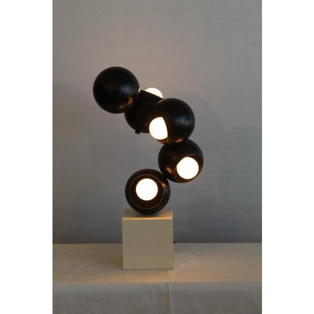 Metal Robert Sonneman sculptural Table Lamp. For Sale - Image 7 of 8