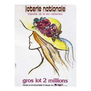 1970s French Loterie Nationale Poster, Tranche De La Ste. Catherine For Sale