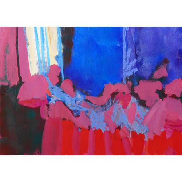 """2010s Original """" Tree Blossoms"""" Contemporary Abstract Painting For Sale - Image 5 of 6"""