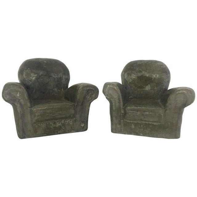 Miniature Lounge Chair Ceramic Sculptures - a Pair For Sale - Image 10 of 10