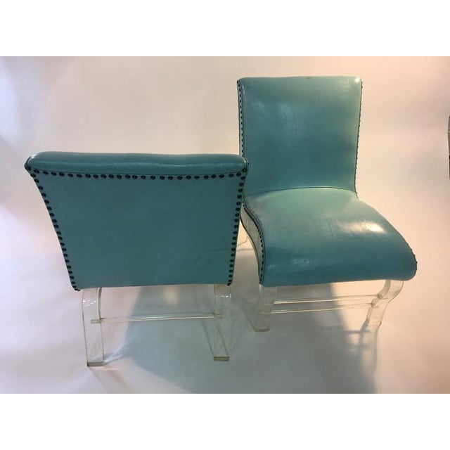 Grosfeld House Pair of Grosfeld House Graceful Lucite Lounge Chairs Designed by Lorin Jackson For Sale - Image 4 of 9
