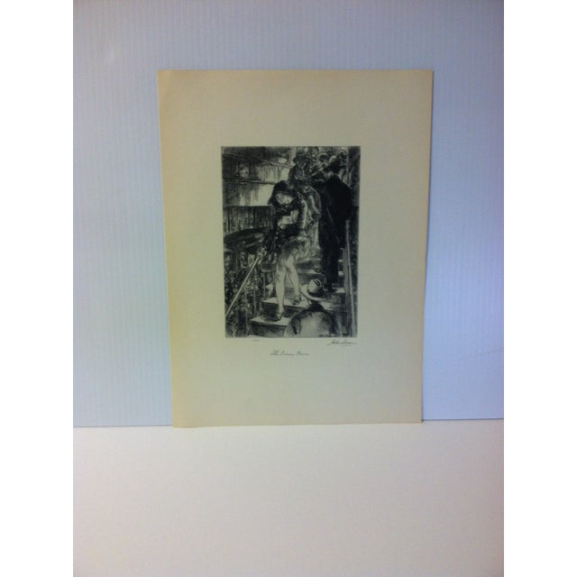 """1930s 1939 Simon & Schuster Famous American Print, """"Subway Stairs"""" by John Sloan For Sale - Image 5 of 5"""
