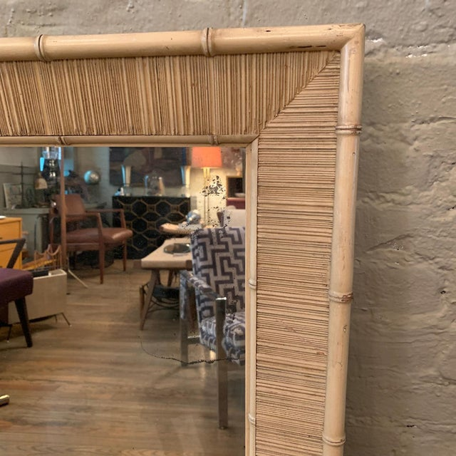 Mid-Century Modern Paul Frankl Style Mid Century Bamboo Motif Wall Mirror For Sale - Image 3 of 6