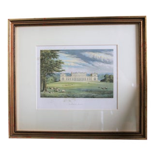"1880 English Traditional Estate Print, ""Harwood House"" For Sale"